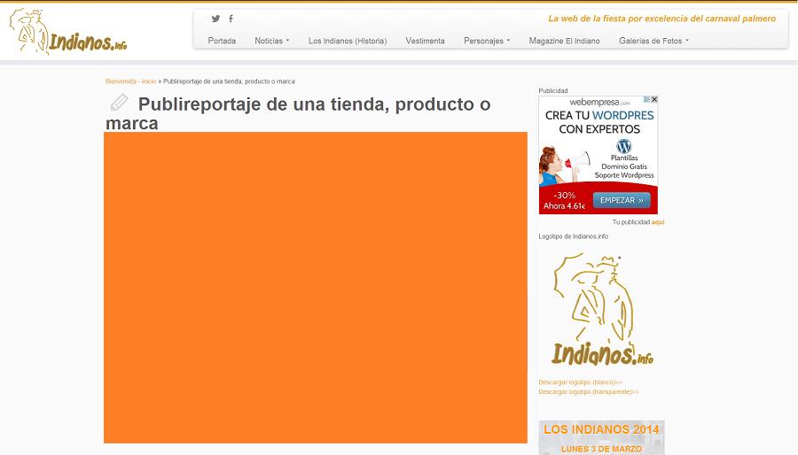 Artículo patrocinado de una tienda, ofreciendo un producto o marca.