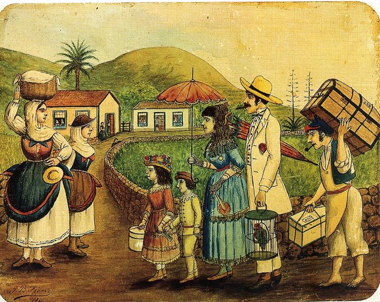 Los Indianos. Obra de Juan Bautista Fierro Van de Walle