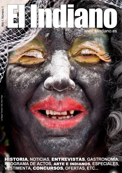 La Negra Tomasa tras el objetivo de Selu Vega, primera portada de EL Indiano
