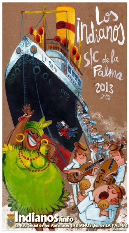 Cartel Indianos 2013 - Obra de Victor Jaubert