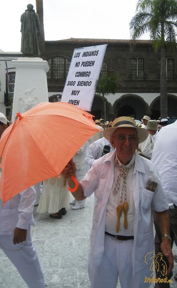 Don Antonio y su alegria, una imagen que no puede faltar en Indianos