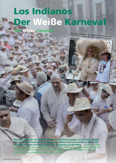 """El magazine alemán dedica artículo """"Los Indianos. El Carnaval Blanco"""" a nuestra fiesta más popular"""