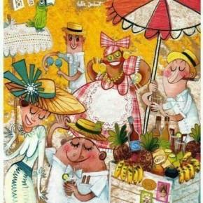 Cartel indianos 2014- Obra de Víctor Jaubert