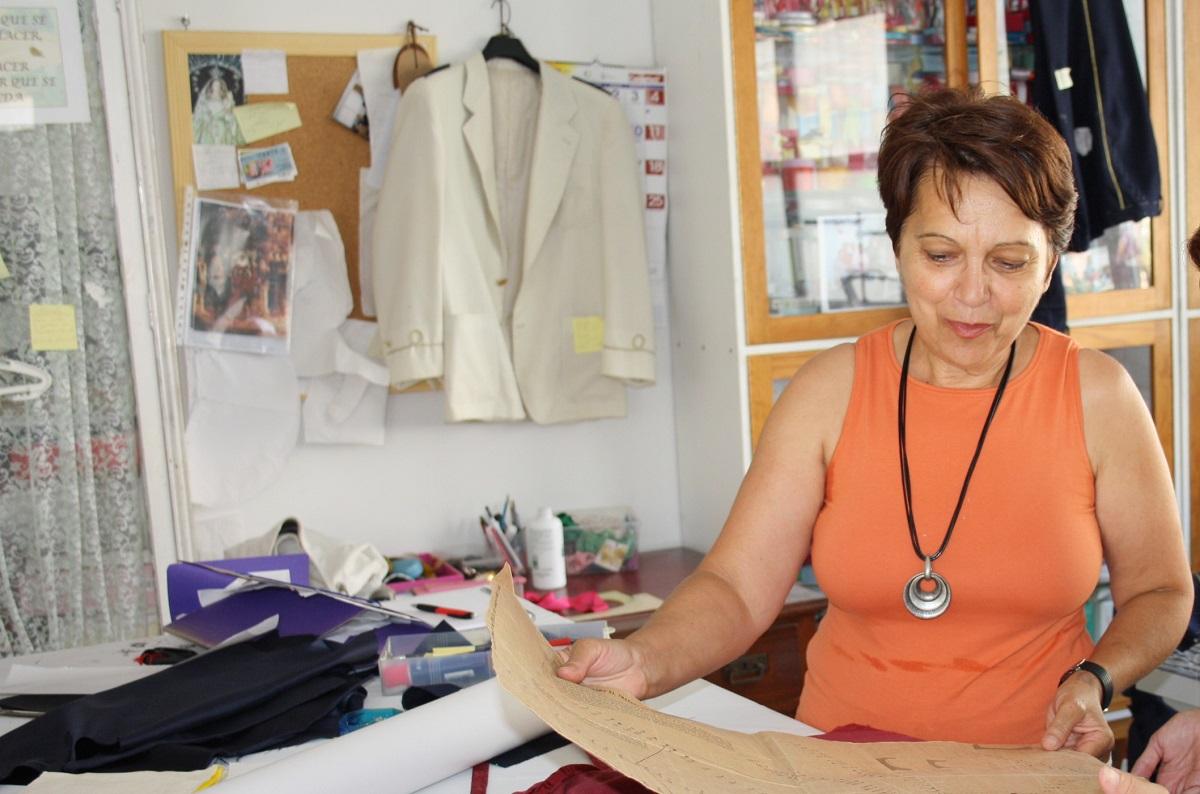 Raquel de Paz, responsable del taller de costura.
