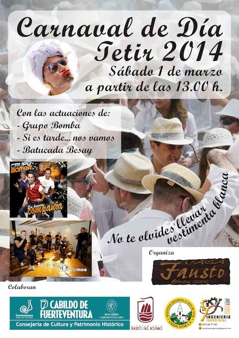 Cartel anunciador de la fiesta en Tetir (Fuerteventura)