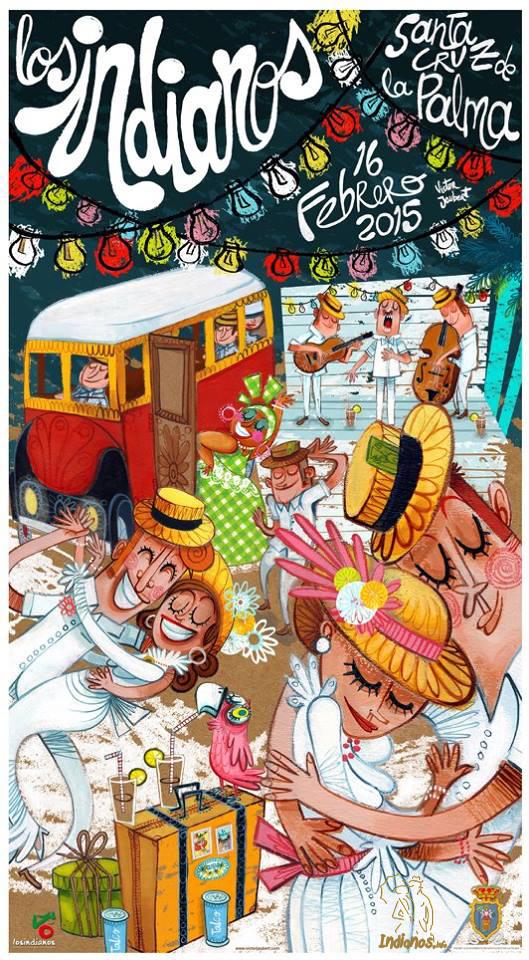 Cartel de Indianos 2015 – Obra de Víctor Jaubert