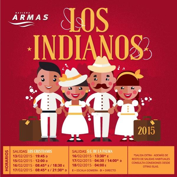 Horarios Naviera Armas - Indianos 2015