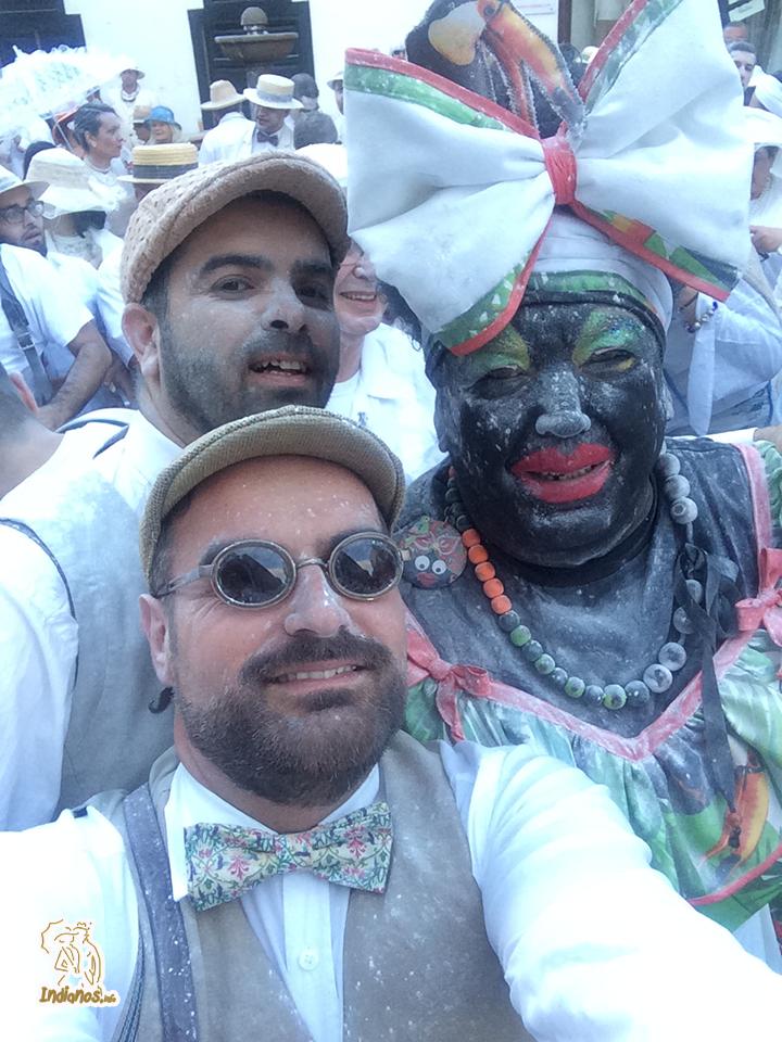 Selfie con la negra Doña Tomasa. Foto:  César Rodríguez