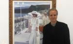 Luis Morera junto a una de sus nuevas obras.