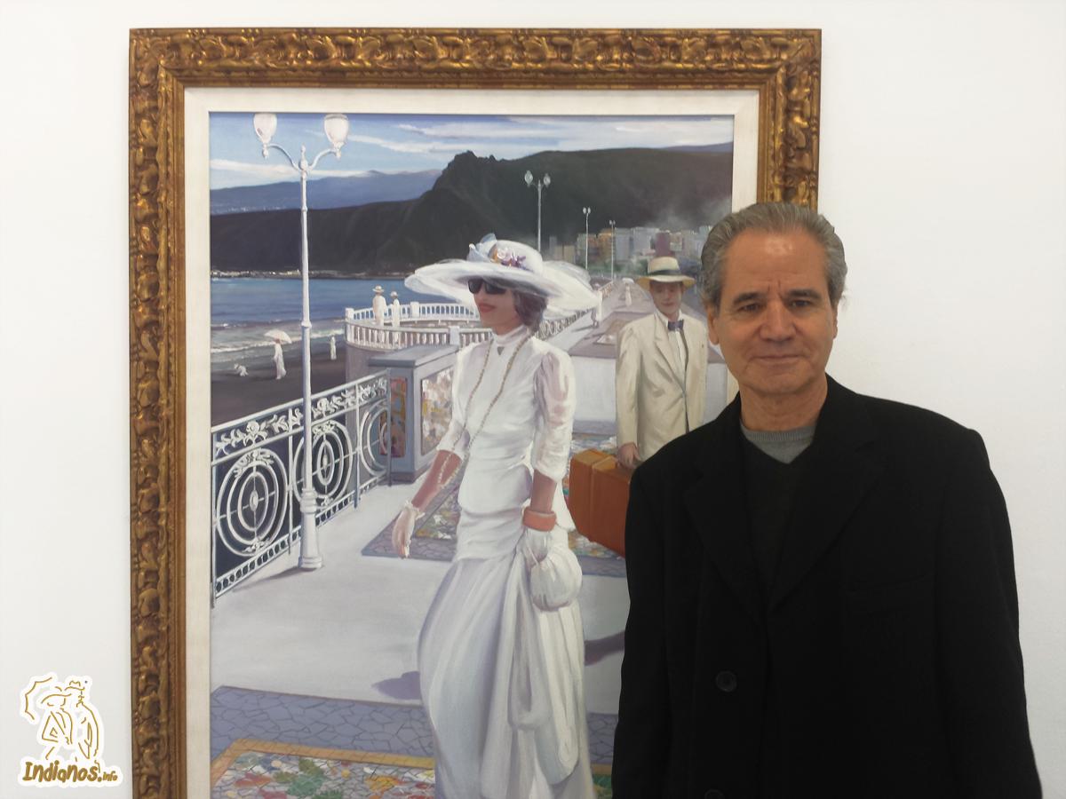 Luis Morera expone en la Sala O'Daly su particular visión sobre 'Los Indianos'