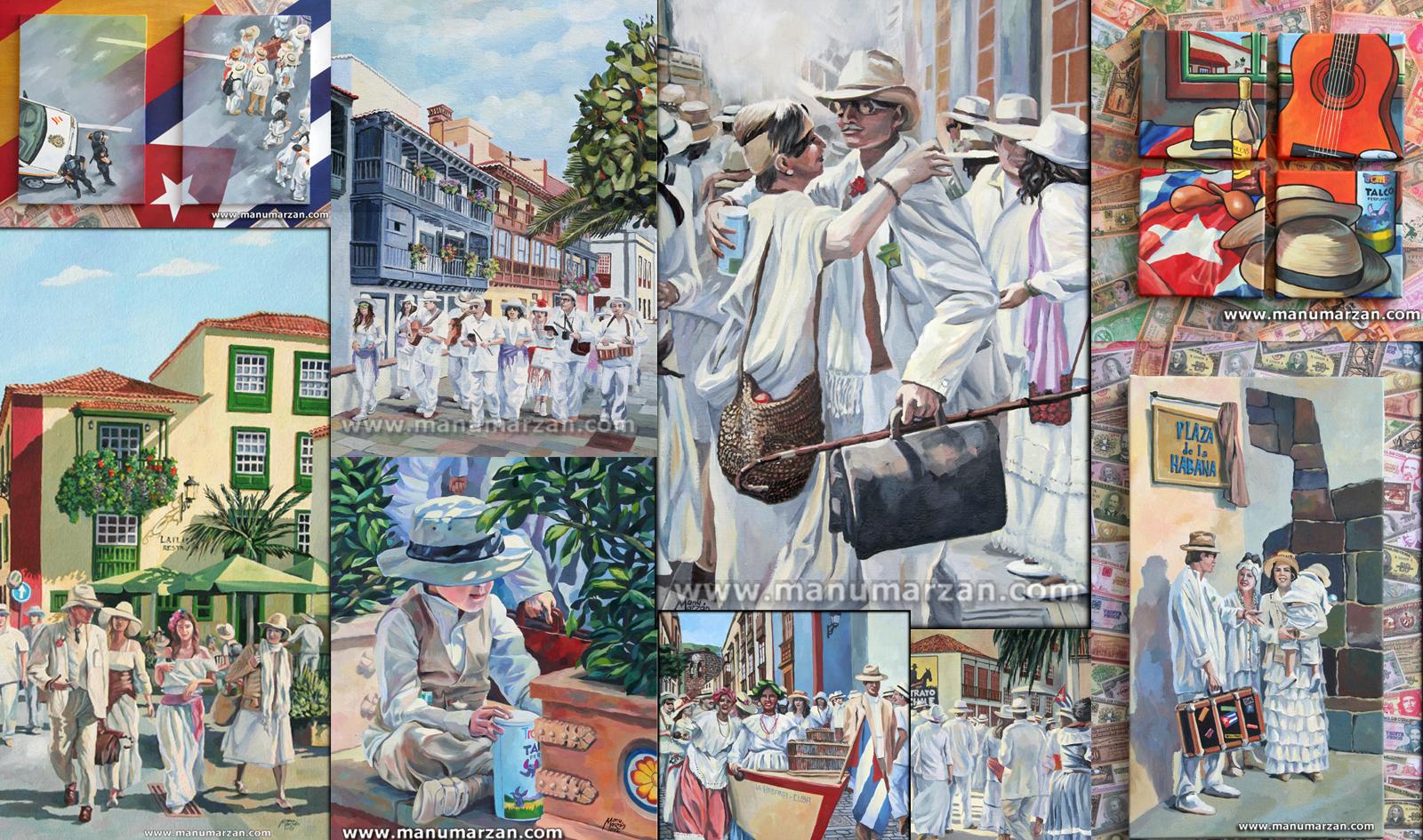 Manu Marzán expone sus 'Indianos de La Palma' en el Museo del Puro Palmero