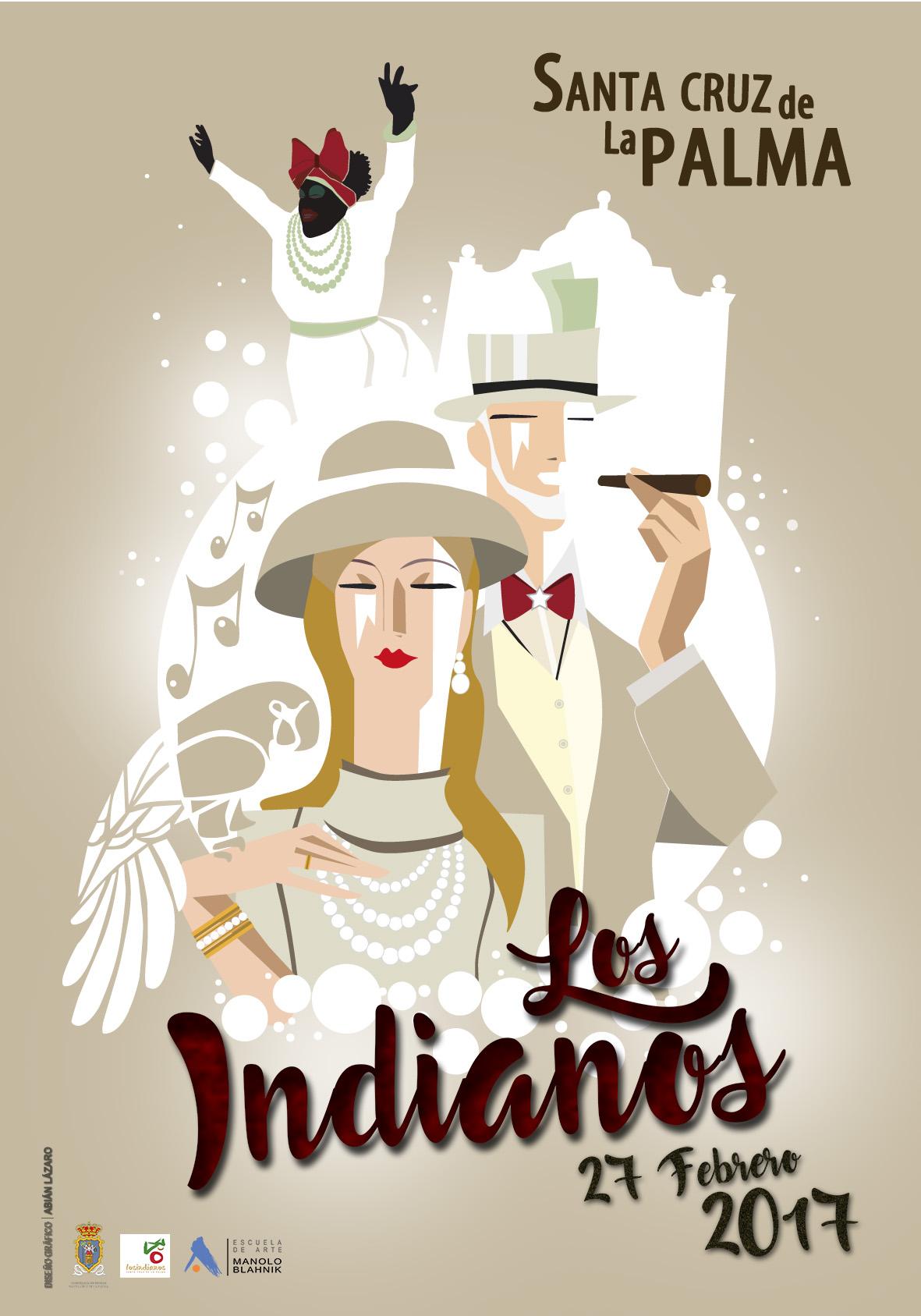 Cartel Los Indianos 2017 Abián Lázaro