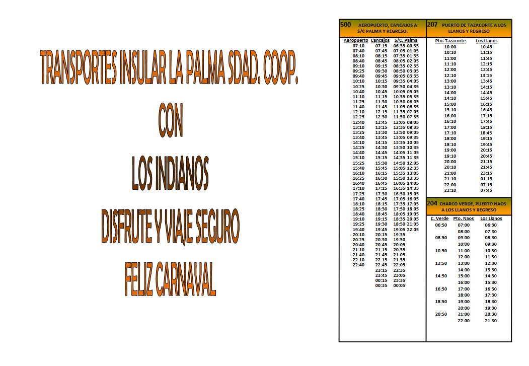 horario guaguas indianos  2017 1